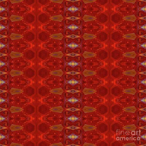 Digital Art - Patterns Colorful - Ruby Red Modern Pattern - By Omaste Witkowski by Omaste Witkowski