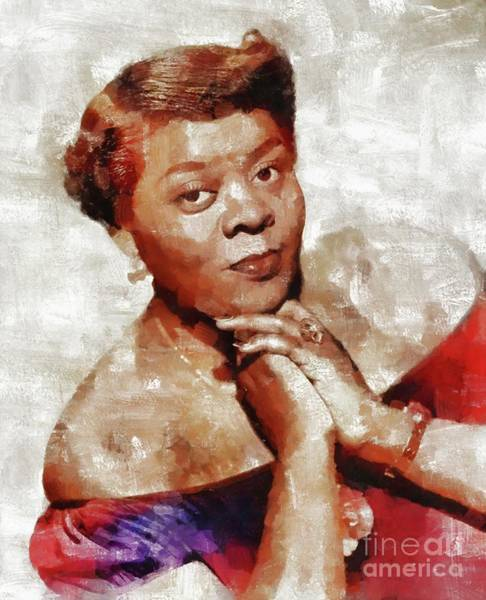 Wall Art - Painting - Dinah Washington, Music Legend by Mary Bassett