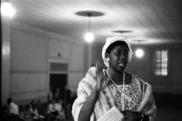 Singer Island Photograph - Dinah Washington Sings At A Church by Michael Ochs Archives