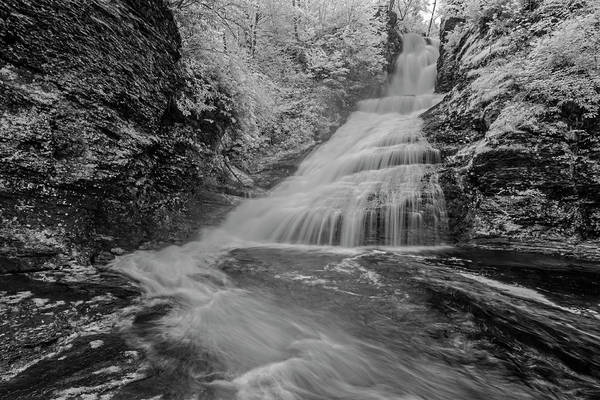 Photograph - Dingmans Waterfalls Dwg Ir by Susan Candelario