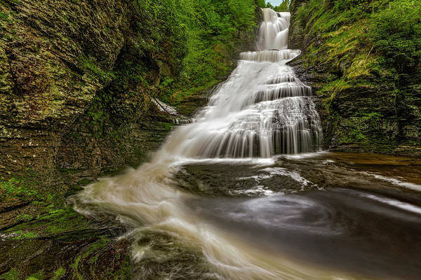 Photograph - Dingmans Waterfalls Dwg by Susan Candelario