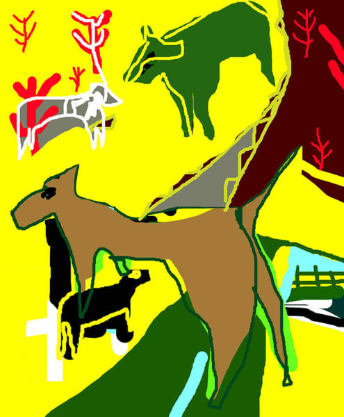 Digital Art - Dingo Desert Highway by Artist Dot