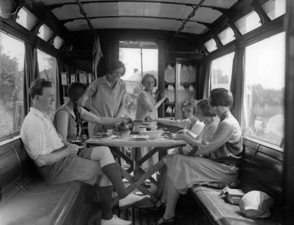Passenger Car Photograph - Dining Car by Fox Photos