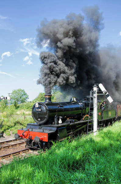 Photograph - Dinmore Manor In Motion by Steam Train