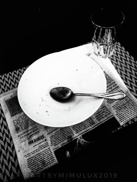 Photograph - Dinner For One by Mimulux patricia No