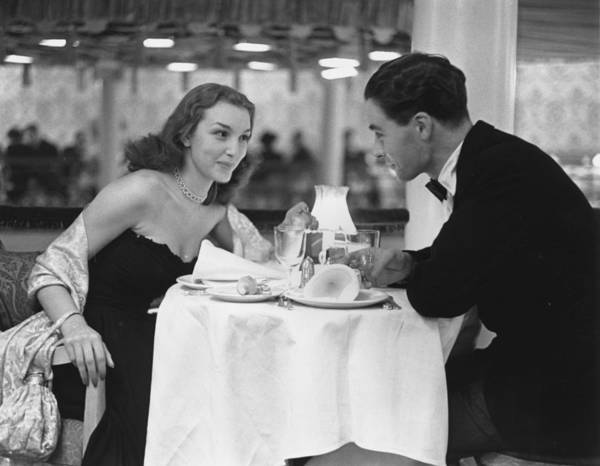 Evening Wear Photograph - Dinner For Two by Kurt Hutton