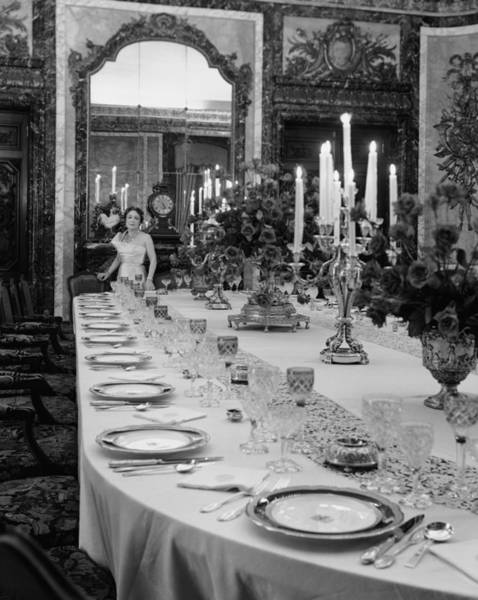 Setting Photograph - Dinner Setting For Royalty Is Exact Dupl by Eliot Elisofon