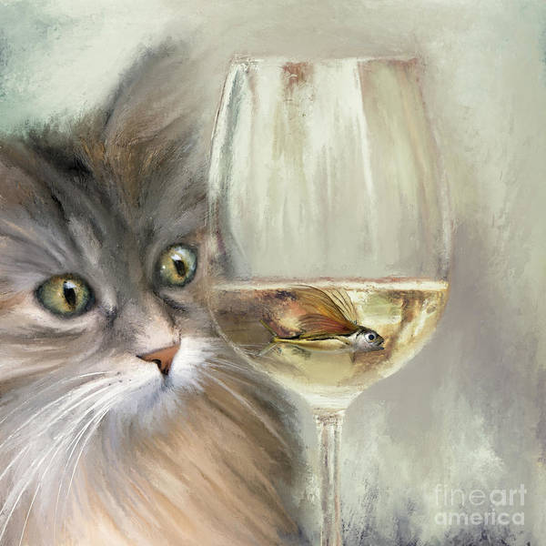 Painting - Dinner Time by Anne Vis