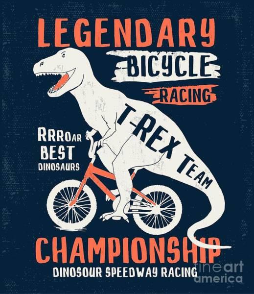 Dinosaur Illustration For Kids T-shirt Art Print