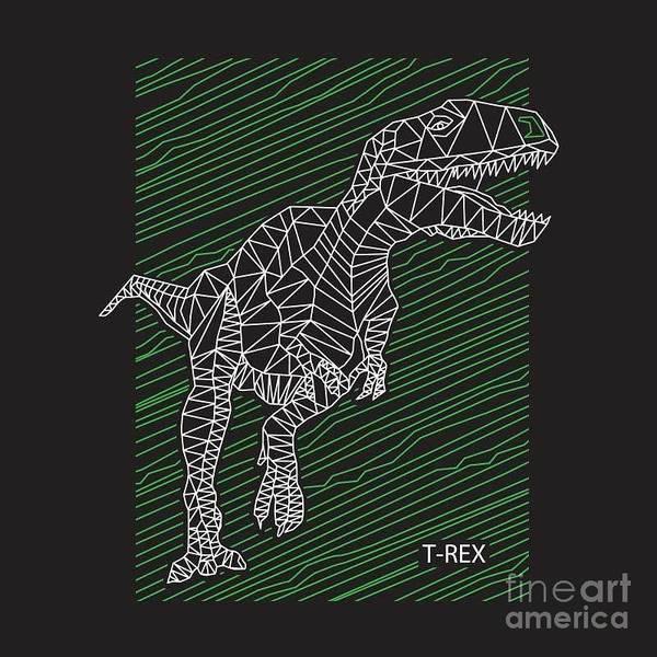 Wall Art - Digital Art - Dinosaur T Rex Illustration by Syquallo