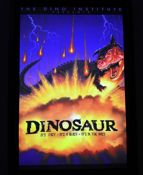 Wall Art - Photograph - Dinosaur The Ride Poster by David Lee Thompson