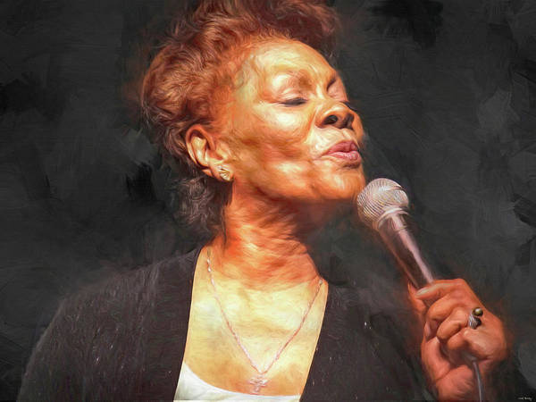 Wall Art - Mixed Media - Dionne Warwick by Mal Bray