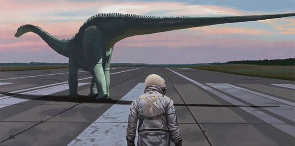Painting - Diplodocus by Scott Listfield