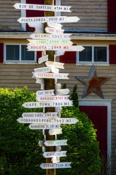 Photograph - Directional Mileage Signs by Susan Candelario