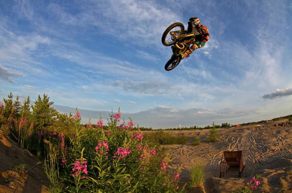 Motocross Photograph - Dirt Bike Whip by Photo By Kevin Klingbeil