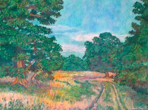 Painting - Dirt Road Near Rock Castle Gorge by Kendall Kessler