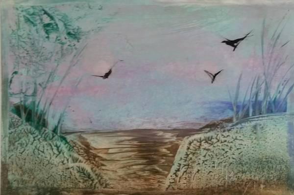 Dirt Road Through A Valley Art Print