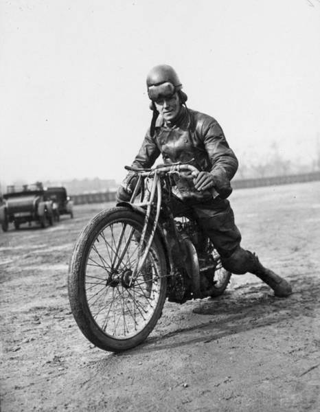 Motorcycle Racing Photograph - Dirt Track Rider by A. Hudson