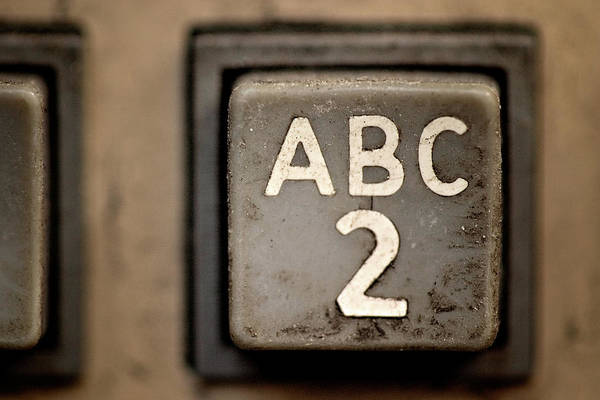 2 Photograph - Dirty No. 2 Keypad On A Phone by Grant Hamilton