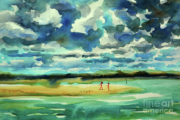 Painting - Disappearing Island Afternoon 2018 by Julianne Felton