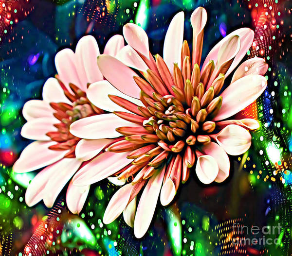 Processing Mixed Media - Disco Daisies #1 by Trudee Hunter