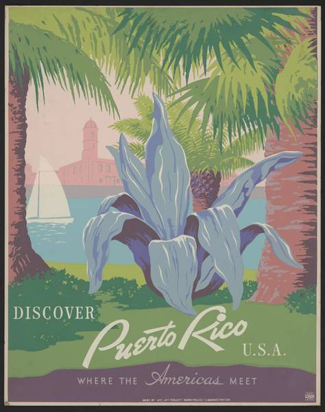 Wall Art - Painting - Discover Puerto Rico U.s.a. Where The Americas Meet by Celestial Images