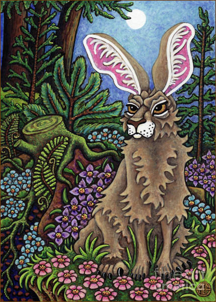 Painting - Disgruntled Woodland Hare by Amy E Fraser
