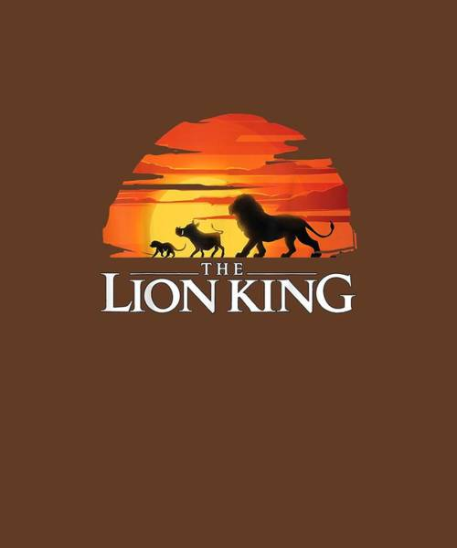 Wall Art - Digital Art - Disney Lion King Sunset T-shirt by Unique Tees