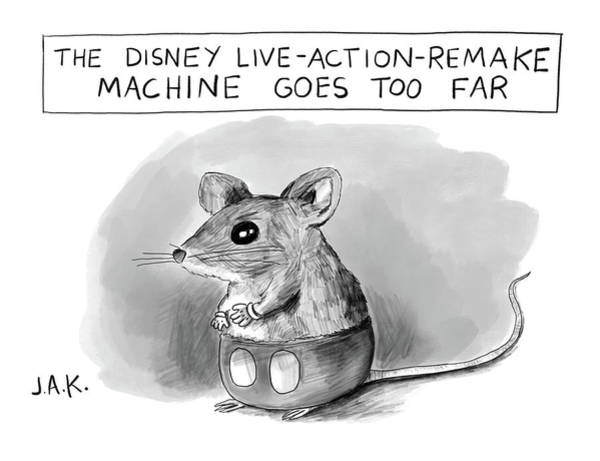 Drawing - Disney Machine Goes Too Far by Jason Adam Katzenstein