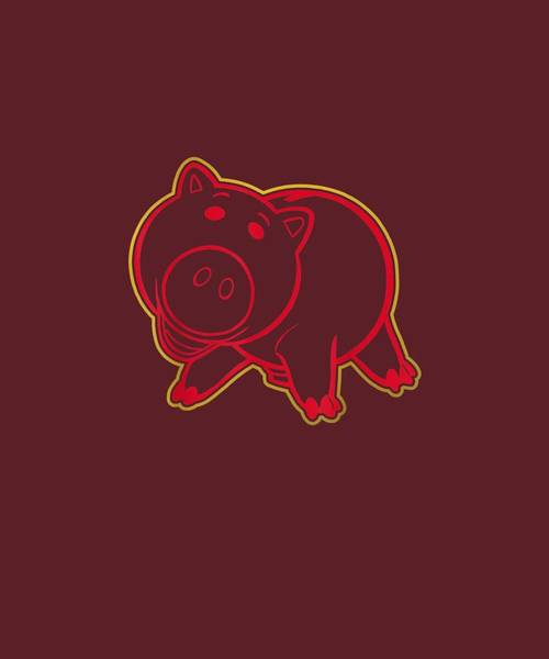 Wall Art - Digital Art - Disney Pixar Toy Story Hamm Lunar New Year  T-shirt by Unique Tees