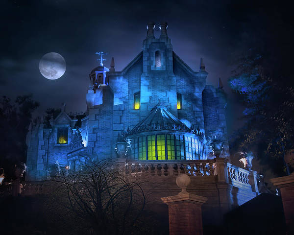 Wall Art - Photograph - Disney World's Haunted Mansion by Mark Andrew Thomas