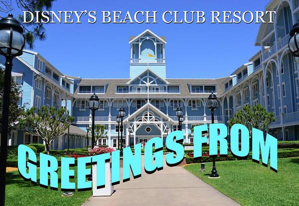 Wall Art - Photograph - Disney's Beach Club Resort Custom Card B by David Lee Thompson