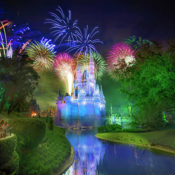 Wall Art - Photograph - Disney's Fantasy In The Sky Fireworks by Mark Andrew Thomas