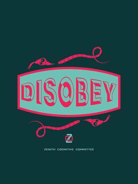 Digital Art - Disobey Logo by Alan Bennington