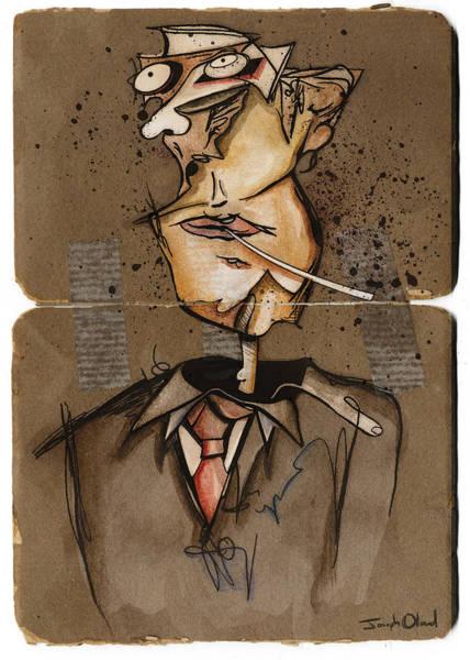 Wall Art - Mixed Media - Dissociative Self Portrait by Joseph Oland
