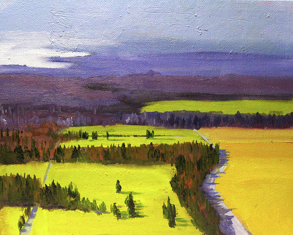 Painting - Distance Landscape by Nancy Merkle
