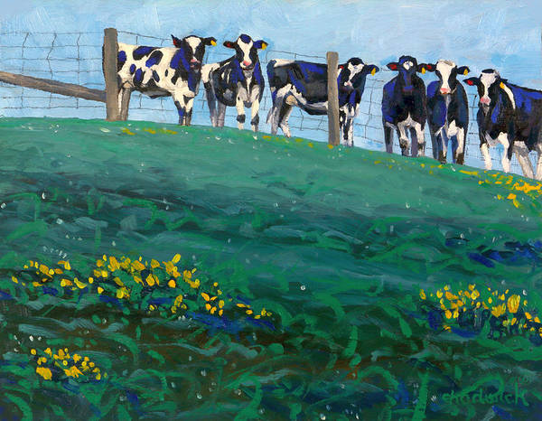 Painting - Distant Pastures by Phil Chadwick