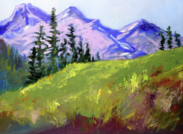 Wall Art - Painting - Distant Peaks by Nancy Merkle