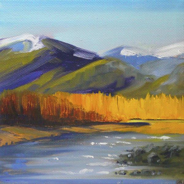 Wall Art - Painting - Distant River by Nancy Merkle