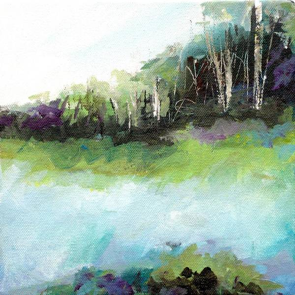 Wall Art - Painting - Distant Woods by Karen Hale