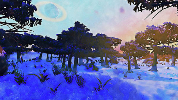 Painting - Distant Worlds - 04  by Andrea Mazzocchetti