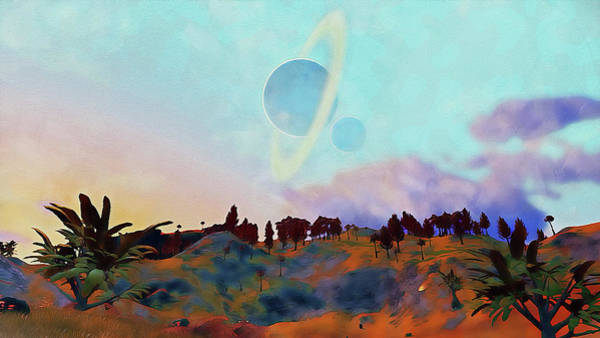 Painting - Distant Worlds - 05 by Andrea Mazzocchetti