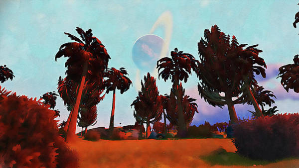 Painting - Distant Worlds - 06 by Andrea Mazzocchetti