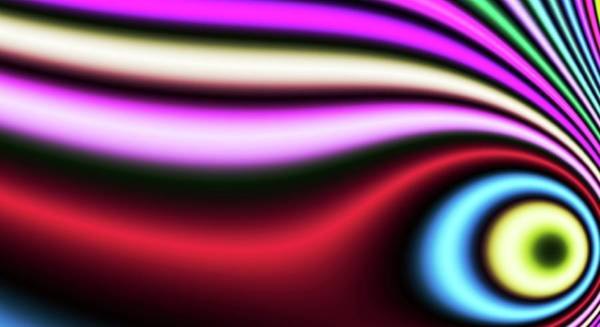 Digital Art - Distorted Abstract Blue Eye by Don Northup