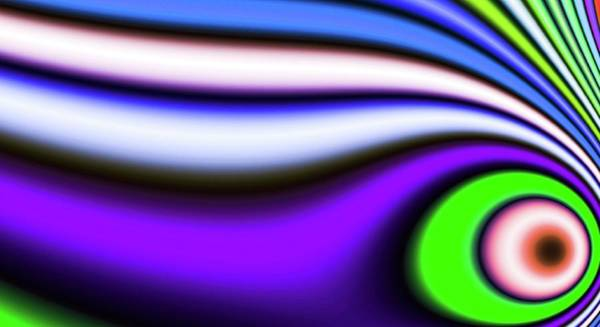 Digital Art - Distorted Green Abstract Eye 2 by Don Northup