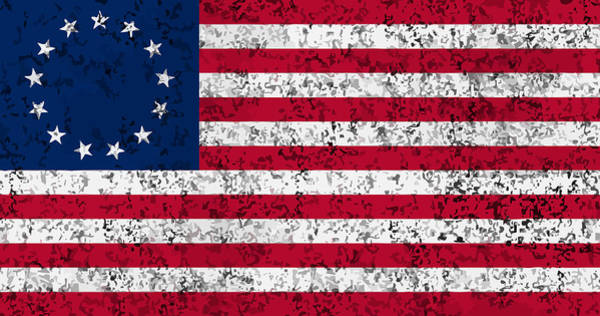 Wall Art - Digital Art - Distressed Betsy Ross Flag by War Is Hell Store