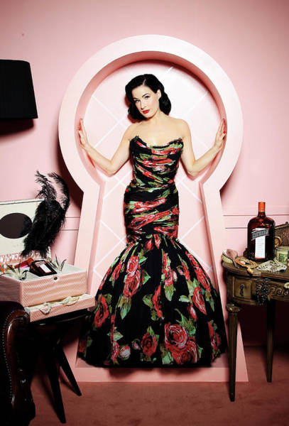 Red Dress Photograph - Dita Von Teese Launches My Private by Chris Jackson