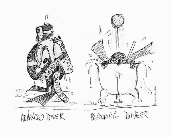 Drawing - Divers - Old And New by Art MacKay