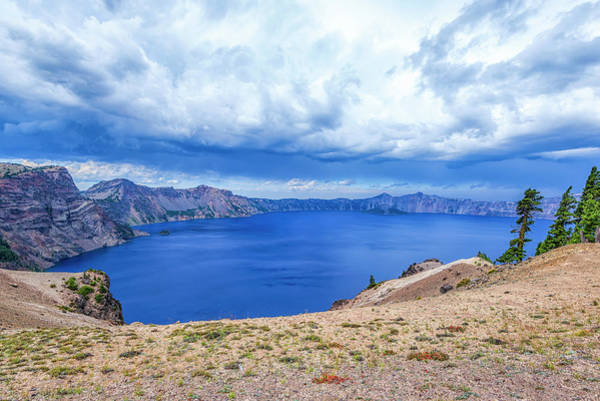 Photograph - Divine Display At Crater Lake by Joseph S Giacalone