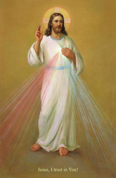 Holy Spirit Painting - Divine Mercy - Divina Misericordia by Svitozar Nenyuk